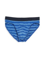 Hom Striped Mini Briefs Blue