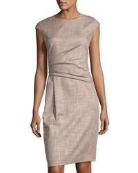 Lafayette 148 New York Side Ruched Sheath Dress Multi