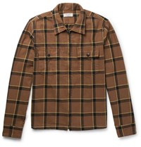 J.Crew Checked Cotton Flannel Jacket Brown