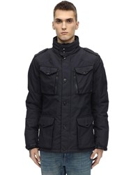 Schott Nylon Field Jacket Navy
