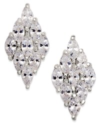 Inc International Concepts Silver Tone Multi Crystal Drop Earrings Only At Macy's
