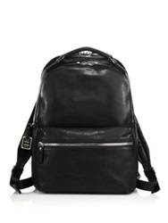 Shinola Runwell Leather Backpack Navy Black