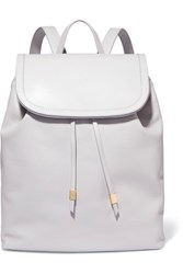 Iris And Ink Suede Trimmed Leather Backpack Gray
