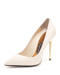 Tom Ford Patent 105Mm Pin Heel Pump Chalk