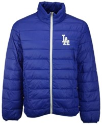 G3 Sports Men's Los Angeles Dodgers Skybox Packable Quilted Jacket Royalblue White