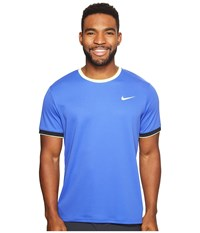 Nike Court Dry Team Crew Paramount Blue Ghost Green Ghost Green Men's Clothing