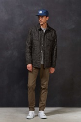Cpo Russo Brushed Tweed Quilted Jacket Grey