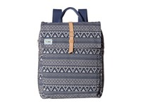 Toms Tribal Geo Canvas Backpack Navy Backpack Bags