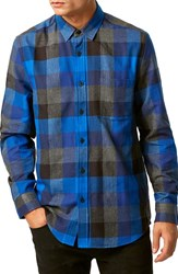 Men's Topman Slim Fit Check Shirt