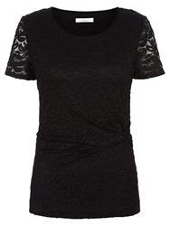Kaliko Twist Detail Lace Top Black