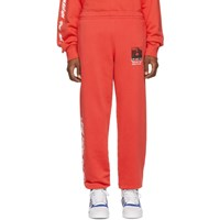 Off White Red Monalisa Slim Lounge Pants