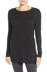Halogenr Women's Halogen Rib Knit Tunic Black Nep Ptn
