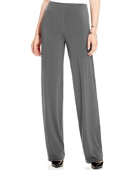 Alfani Wide Leg Knit Dress Pants Only At Macy's Pure Cinder