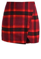 Abercrombie And Fitch Mini Skirt Red