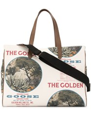 Golden Goose Slogan Print California Tote 60
