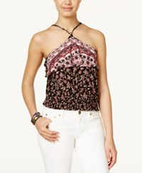 American Rag Halter Crop Top Only At Macy's Classic Black