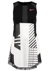 Nike Performance Premier Sports Dress White Black Hyper Orange