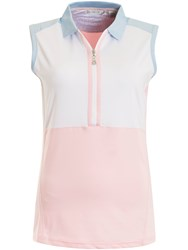 Green Lamb Pandora Sleeve Less Colour Block Polo Pink