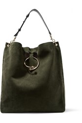 J.W.Anderson Jw Anderson Pierce Hobo Suede And Leather Shoulder Bag Army Green