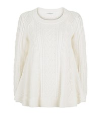 Claudie Pierlot Magnetique Cable Knit Sweater Female Ivory