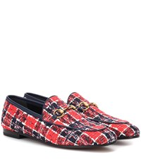 Gucci Jordaan Tweed Loafers Multicoloured