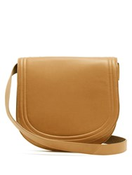 Diane Von Furstenberg Small Saddle Leather Cross Body Bag Light Tan