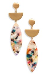 Panacea Marquise Drop Earrings Gold Multi