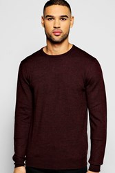 Boohoo Crew Neck Merino Wool Jumper Purple