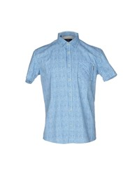 Duck And Cover Shirts Turquoise