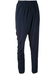 Scanlan Theodore Stretch Draped Front Trousers Black