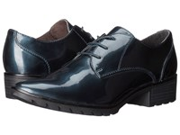 Tamaris Phanie 1 1 23304 27 Navy Patent Women's Lace Up Casual Shoes Blue