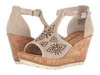 Minnetonka Ellis Stone Suede Women's Wedge Shoes Gray