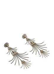 Lanvin Elvira Bashed Drop Pendant Earrings Gold