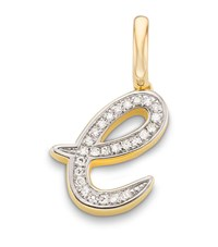 Monica Vinader Gold Plated Diamond E Pendant Female