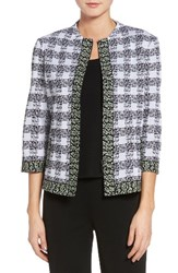 Ming Wang Women's Check Jacquard Jacket