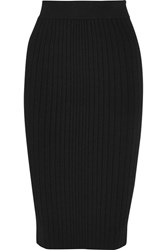 Cushnie Et Ochs Ribbed Jersey Skirt Black