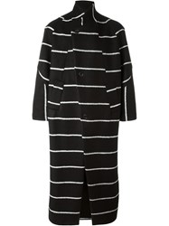 Henrik Vibskov 'This' Striped Coat Black