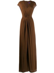 Ralph Lauren Flared Jumpsuit Brown
