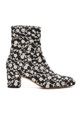 Altuzarra Callie Ankle Booties In Black White Floral Black White Floral