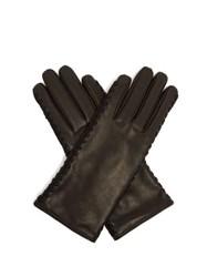 Bottega Veneta Leather Gloves Black