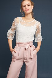 Eva Franco Melanie Lace Top Beige