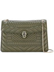 Bulgari Chain Strap Shoulder Bag Green