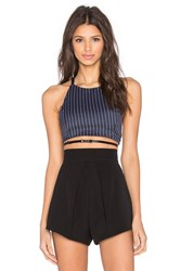 Evil Twin Butch Cassidy Crop Top Navy