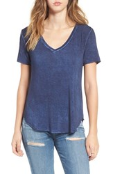 Women's Bp. Washed V Neck Tee Navy Evening