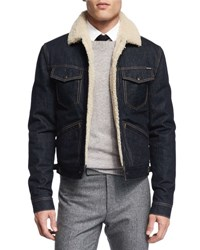 Tom Ford Denim Jacket With Shearling Lining