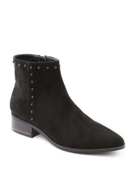 Kensie Francisco Microsuede Studded Ankle Boots Black