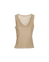 Appartamento 50 Sleeveless Sweaters Sand