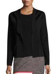 Boss Fawn Ribbed Jacket Sweater Black