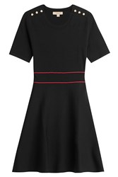 Burberry London Cotton Dress With Embossed Buttons Black