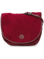 Fendi Vintage Saddle Crossbody Bag Red